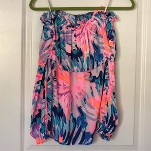 Lilly Pulitzer Off Shoulder Dee top small